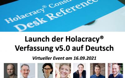 Launch der Holacracy Verfassung v5.0 auf Deutsch
